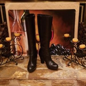 Aerosoles Knee High Leather Boots/Black